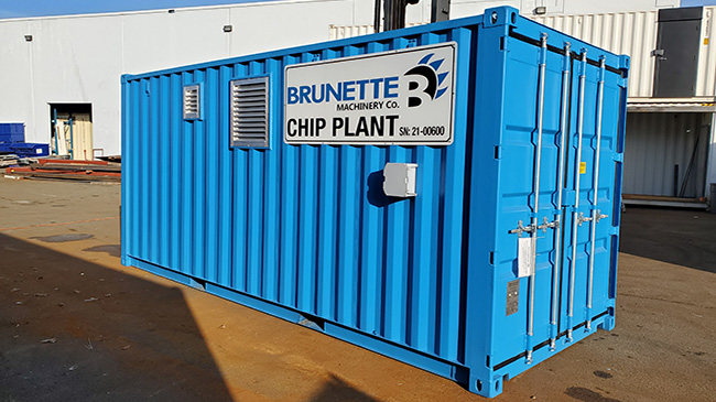 Image of Brunette Container - housing for HPU and Office